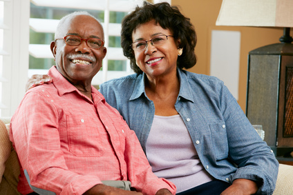 Elderly couple enjoying the reverse mortgages